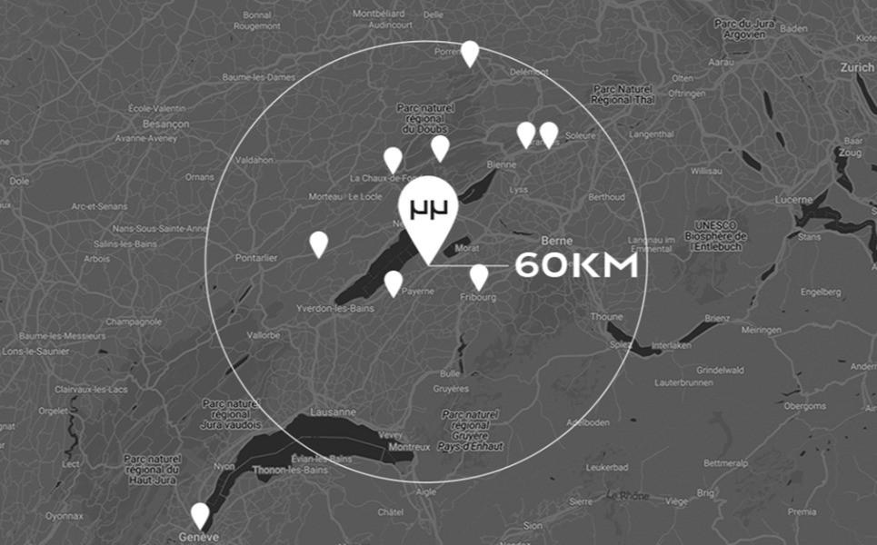Mauron Musy - Un rayon de 60 km